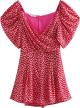 Clothes/footwear details Daisy Puff Sleeve Print Print Jumpsuit (Dresses)
