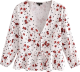 Clothes/footwear details Dot Cherry Printed Chest Lace-Up Shirt (Shirts)