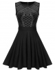 Clothes/footwear details ELEOSL Women A Line Flared Sequin Dress Sleeveless Rhinestone Cocktail Party Dress (Dresses)