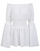 Clothes/footwear details ELESOL Women Off Shoulder Vintage Peasant Blouse Lace Ruffle Smocked Waist Boho Tops Shirts (Shirts)