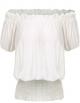 Clothes/footwear details ELESOL Women Peasant Blouse Ruffle Off Shoulder Boho Tops Vintage Smocked Waist Shirts S-XXL (Shirts)