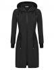 Clothes/footwear details ELESOL Women's Lightweight Waterproof Long Raincoat Hood Outdoor Hiking Rain Jacket S-XXL (Outerwear)