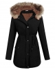 Clothes/footwear details ELESOL Women's Military Hooded Warm Winter Parkas Faux Fur Lined Jacket Coats (Accessories)
