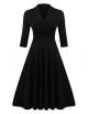Clothes/footwear details ELESOL Women's Vintage V Neck Half Sleeve Pleated Flared A Line Swing Dress (Dresses)