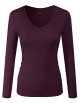Clothes/footwear details ELF FASHION Basic Slim Fit Long Sleeve Cotton V-Neck and Round Scoop Neck T Shirt Top For Women (Size S~3XL) (Cardigan)