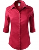 Clothes/footwear details ELF FASHION Roll up 3/4 Sleeve Button Down Shirt for Womens Made in USA (Size S~3XL) (Long sleeves shirts)