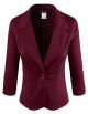 Clothes/footwear details ELF FASHION Women Casual Work Knit Office Blazer Jacket Made in USA (Size S~3XL) (Jacket - coats)