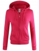 Clothes/footwear details ELF FASHION Women Lightweight Cotton Hoodie Casual Long Sleeve Zip-up Jacket W/Kangaroo Pocket (Size S~3XL) (Long sleeves t-shirts)