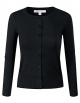 Clothes/footwear details ELF FASHION Women Top Button Crew Neck Cardigun Sweater (Size S~3XL) (Cardigan)