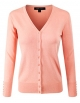 Clothes/footwear details ELF FASHION Women Top Long Sleeve Button V-Neck Knit Sweater Cardigan (Size S~3XL) (Cardigan)