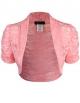 Clothes/footwear details ELF FASHION Women Top Short Sleeve Floral Lace Shrug Open Front Bolero Cardigan (Size S~3XL) (Top)