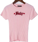 Clothes/footwear details Embroidered Knit Short-Sleeve T-Shirt (Shirts)