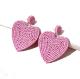 Clothes/footwear details Fashion Creative Wild Popular Rice Beads Peach Heart Earrings Nhps265037 (Earrings)