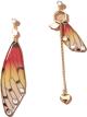 Clothes/footwear details Fashion Earrings Creative Butterfly Simulation Asymmetric Resin Earrings Nhan263 (Earrings)