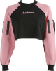 Clothes/footwear details Fashion cuff zipper ribbon colorblock sw (Pullovers)