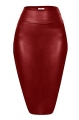 Clothes/footwear details Faux Leather Pencil Skirt Below Knee Length Skirt Midi Bodycon Skirt for Womens, USA (Skirts)