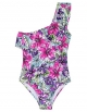 Clothes/footwear details Firpearl Girl's One Piece Swimsuit One Shoulder Swimwear Kids Ruffle Bathing Suits (Swimsuit)