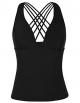 Clothes/footwear details Firpearl Women's Tankini Swimsuits Top V Neck Cross Back Swimwear (Swimsuit)