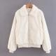 Clothes/footwear details Fur collar lapel coat zipper coat loose (Jacket - coats)