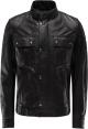 Clothes/footwear details GANGSTER MENS BLACK SHEEPSKIN TRUCKER JACKET (Jacket - coats)