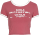 Clothes/footwear details GIRLS SUPPORTING GIRLS CROP TEE (T-shirts)