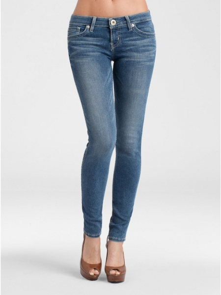 buy online 54bd7 a55ce GUESS Jeans - GUESS Power Skinny Jeans - Resolute Wash Blue