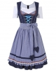 Clothes/footwear details GloryStar Women's German Dirndl Dress 3 Pieces Traditional Bavarian Oktoberfest Costumes for Halloween Carnival (Accessories)