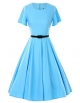 Clothes/footwear details GownTown 1950s Vintage Dresses Butterfly Sleeve Swing Stretchy Dresses (Dresses)