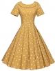 Clothes/footwear details GownTown Women's 1950s Polka Dot Vintage Dresses Audrey Hepburn Style Party Dresses (Dresses)