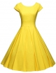 Clothes/footwear details GownTown Women's 1950s Vintage Dresses Cap Sleeves Cocktail Stretchy Dresses Pocket (Dresses)