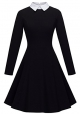 Clothes/footwear details HOMEYEE Women's Doll Collar Wear to Work Swing A-Line Party Casual Dress A016 (Dresses)