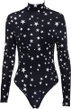 Clothes/footwear details High collar five-pointed star pattern ju (Overall)