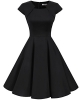Clothes/footwear details Homrain Women's 1950s Retro Vintage A-Line Long Sleeves Cocktail Swing Party Dress (Dresses)