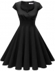 Clothes/footwear details Homrain Women's 1950s Retro Vintage Cap Sleeve Rockabilly Swing Dress Cocktail Dresses (Dresses)