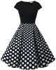 Clothes/footwear details Homrain Women's Vintage 1950s Cap Sleeve Patchwork Cocktail Swing Party Dress (Dresses)