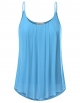 Clothes/footwear details JJ Perfection Women's Pleated Chiffon Layered Cami Tank Top (Shirts)
