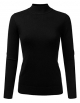 Clothes/footwear details JJ Perfection Women's Soft Long Sleeve Mock Neck Knit Sweater Top (Shirts)