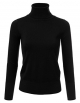 Clothes/footwear details JJ Perfection Women's Stretch Knit Turtle Neck Long Sleeve Pullover Sweater (Shirts)