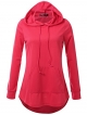 Clothes/footwear details JayJay Women Lace Up High Low Sweat Casual Long Sleeve Hoodie Lightweight Sweatshirt (Shirts)