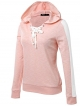 Clothes/footwear details JayJay Women Striped Basic Lightweight Pullover Hoodie Sweatshirt with Contrast String (Shirts)