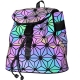 Clothes/footwear details KAISIBO Geometric Backpack Holographic Reflective Backpacks Fashion (Luminous D) (Hand bag)