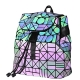 Clothes/footwear details KAISIBO Geometric Backpack Holographic Reflective Backpacks (Luminous B) (Hand bag)