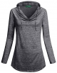 Clothes/footwear details Kimmery Womens Long Sleeve Cowl Collar Fold Basic Pullover T-Shirt Hoodies Sweatshirt Tops (Shirts)