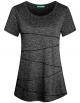 Clothes/footwear details Kimmery Women's Short Sleeve Yoga Tops Activewear Running Workout T-Shirt (Shirts)