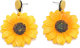 Clothes/footwear details Korean Fashion Retro Fairy Sunflower Wild Exaggerated Flower Earrings For Women (Earrings)