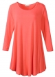 Clothes/footwear details LARACE Women 3/4 Sleeve Tunic Top Loose Fit Flare T-Shirt(1X, Watermelon) (Shirts)