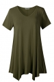 Clothes/footwear details LARACE Women Casual T Shirt V-Neck Tunic Tops for Leggings (Shirts)