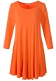 Clothes/footwear details LARACE Women's 3/4 Sleeve Casual Swing T-Shirt Dresses(S, Orange) (Dresses)
