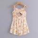 Clothes/footwear details Lace-up pleated print strap print dress (Dresses)
