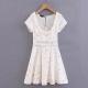 Clothes/footwear details Lace-up waist short-sleeved dress (Dresses)